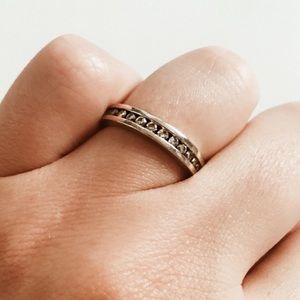 Jewelry - 10K White Gold Diamond Ring Band